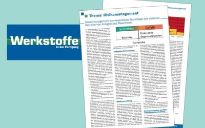 "Publication in ""Werkstoffe"": Risk Management for Safe Plants and Machines"